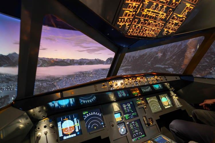 Flugsimulator Frankfurt Innsbruck