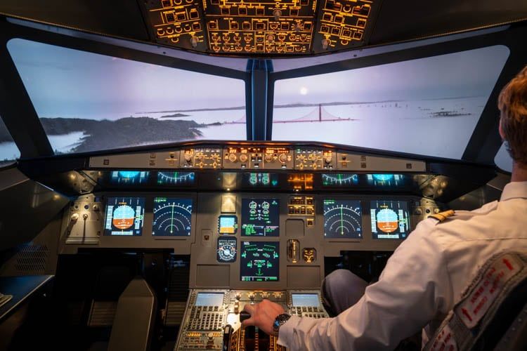 Flugsimulator Frankfurt San Francisco